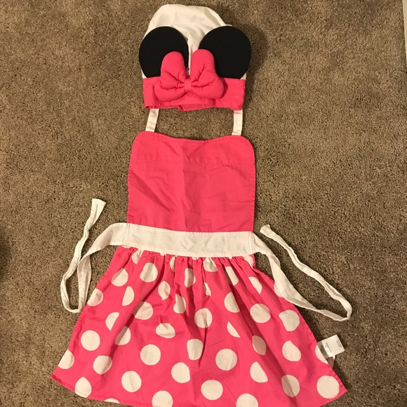 Disney Other - Girl's Minnie Mouse Apron and Hat